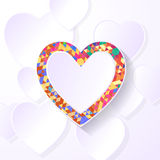 pixel heart presentation Royalty Free Stock Images