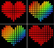 Pixel hearts Royalty Free Stock Photography