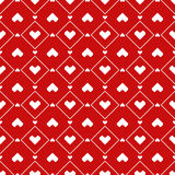 Pixel Hearts seamless Pattern Stock Photography