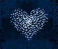 Pixel-Herz auf digitalem Schirm Stockfotos