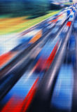 Pixel highway jam abstraction Royalty Free Stock Photography