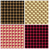 Pixel Houndstooth Patterns Royalty Free Stock Photos