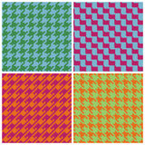 Pixel Houndstooth in Retro Brights Royalty Free Stock Photos