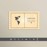 Pixel icon North and South America. Vector design Royalty Free Stock Photos