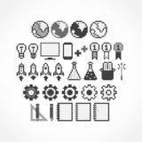 Pixel Icons Stock Image