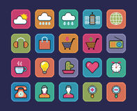 Pixel icons. Royalty Free Stock Photo