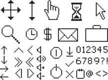 Pixel icons Royalty Free Stock Photo