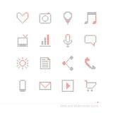 Pixel icons set Stock Photography