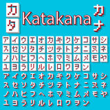 Pixel Japanse Katakana Royalty-vrije Stock Fotografie