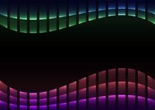 Pixel-Kurvenhintergrund des Regenbogens abstrakter Stockfoto