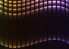 Pixel-Kurvenhintergrund des Regenbogens abstrakter Stockbild