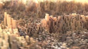 Pixel landscape Royalty Free Stock Image