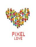 Pixel-Liebe Lizenzfreie Abbildung