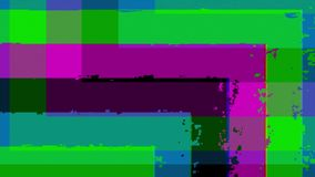 Pixel, Linien, Winkel und Störschub vektor abbildung