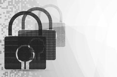 Pixel Lock on digital screen Stock Photo