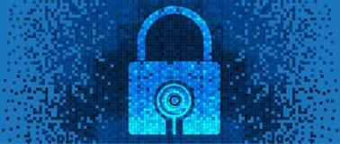 Pixel Lock on digital screen Royalty Free Stock Images