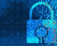 Pixel Lock on digital screen Stock Image