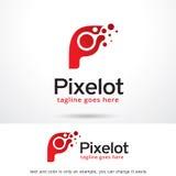PIXEL Logo Template Design Vector för bokstav P Vektor Illustrationer