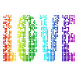 Pixel love Royalty Free Stock Images
