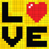 8-bit Pixel Love Heart Royalty Free Stock Photos