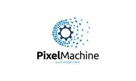 Pixel Machine Logo Stock Photos