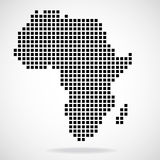 Pixel map of Africa Royalty Free Stock Images