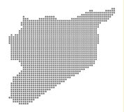 Pixel map of Syria. Vector dotted map of Syria isolated on white background. Abstract computer graphic of Syria map. Vector illustration vector illustration