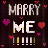 Pixel marry me Stock Photo