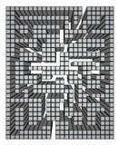 Pixel maze Stock Images