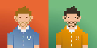 Pixel men Royalty Free Stock Images