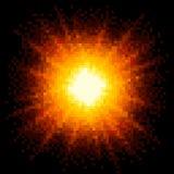 Pixel met 8 bits Art Fiery Explosion EPS8 vector Stock Afbeeldingen