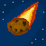 Pixel meteorite. For games and applications Stock Images