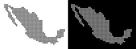 Pixel-Mexiko-Karte vektor abbildung