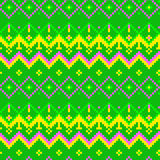 Pixel modern geometric seamless pattern ornament Stock Images