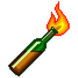 Pixel Molotov cocktail  vector Stock Photo
