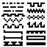 Pixel monochrome abstract symbols Vector illustration Stock Image