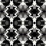Pixel monochrome beautiful seamless pattern vector illustration Royalty Free Stock Image