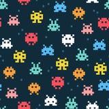Pixel monsters. Vector illustration. royalty free illustration
