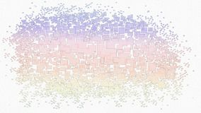 Bright colorful background. Pixel mosaic background centered on a white background. Abstract pixel mosaic background in pink, orange, yellow and purple pastel royalty free stock photography