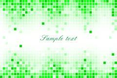 Pixel mosaic green background - illustration Stock Image