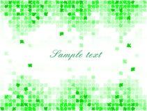 Pixel mosaic green maple background - illustration Stock Image