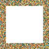 Pixel mosaic square frame in retro (vintage) muted colors Stock Images