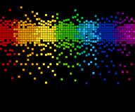 Pixel mosaic - vector. Bright colored mosaic - pixel blocks, vector illustration - you can change the background color and the color of pixels Royalty Free Stock Photography