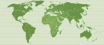 Pixel Mosaic worldmap Stock Images