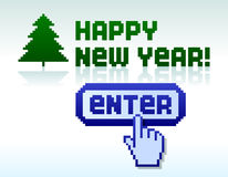 Pixel new year Stock Photos