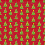 Pixel new year fir tree seamless background. Stock Photography