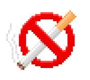 Pixel no smoking sign Stock Photography