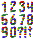 Pixel number toy block style Royalty Free Stock Images