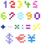 Pixel numbers Stock Photos