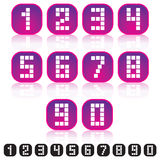 Pixel Numbers Icons Royalty Free Stock Image